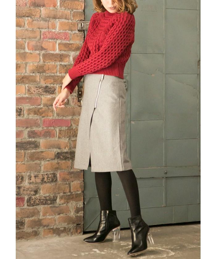 ウールジップスカート