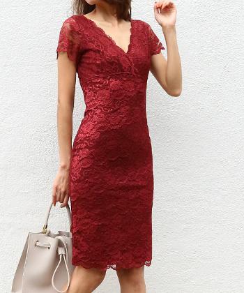 オールレースティアードドレス