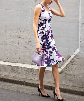 フラワーマーメイドドレス
