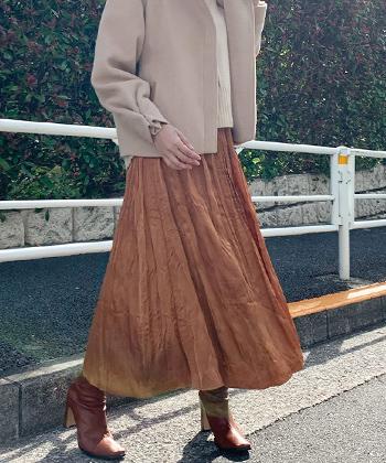 クリンクルプリーツスカート