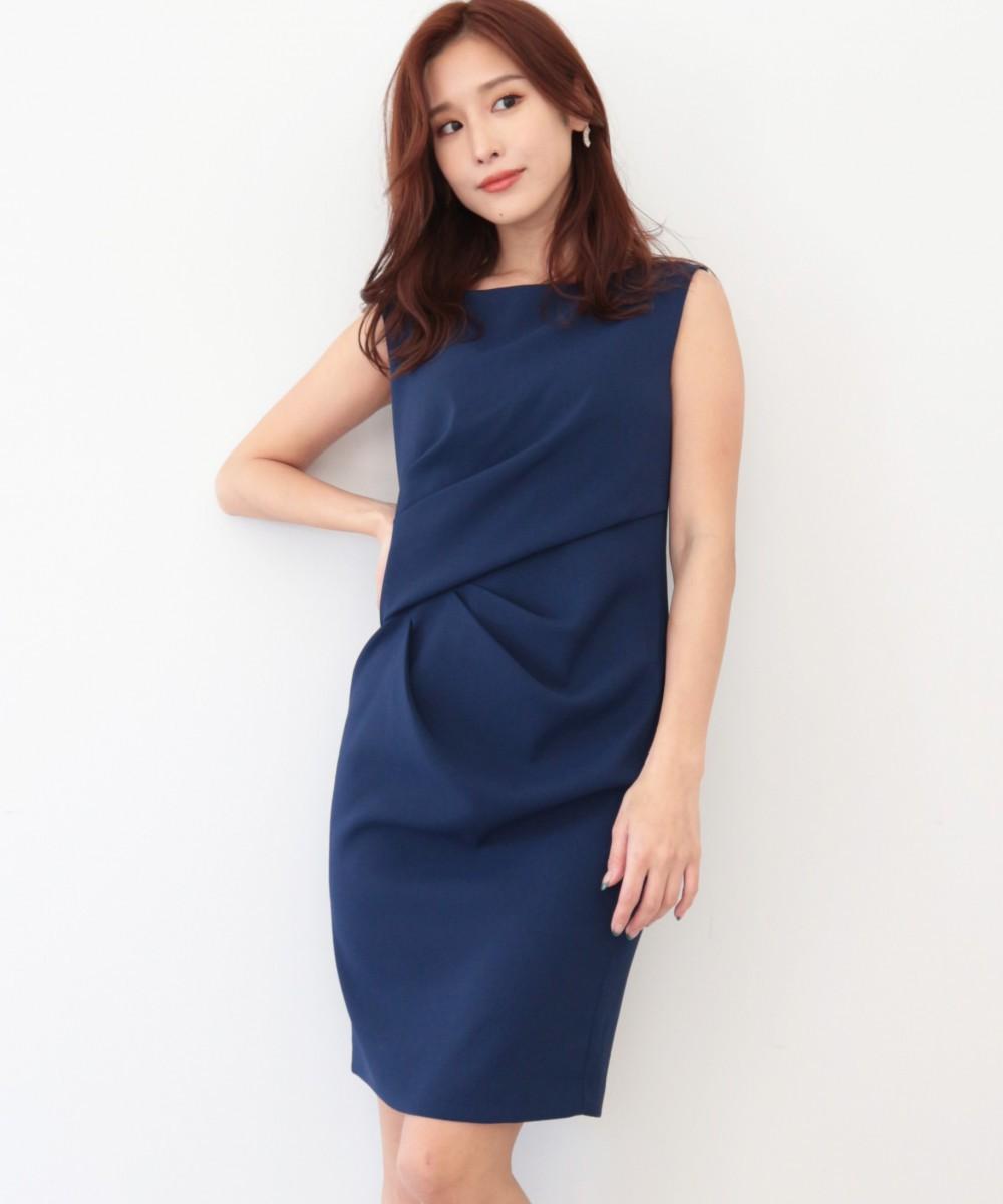 ウエストギャザーデザインドレス
