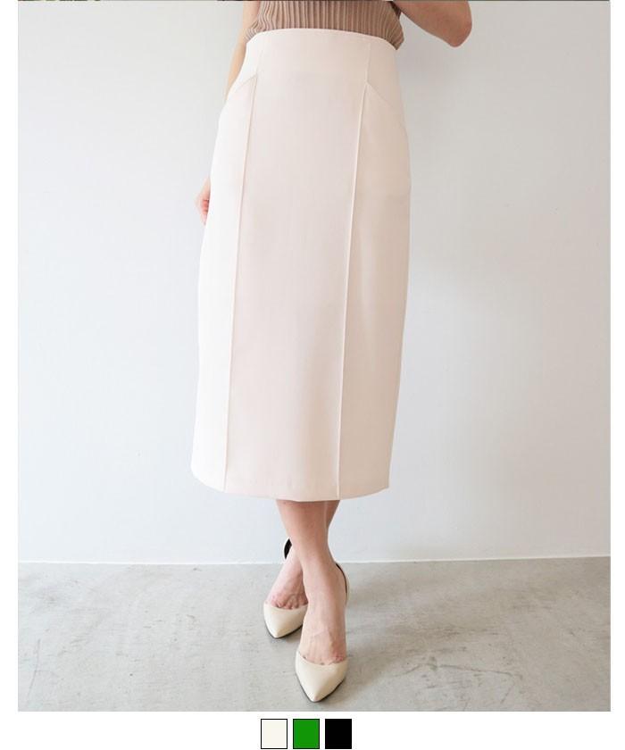 ピンタックタイトスカート
